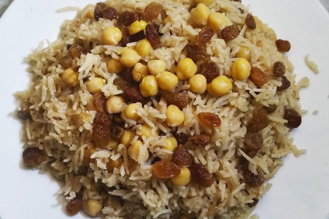 Recipe Of Kishmishi Chana Chicken Pulao